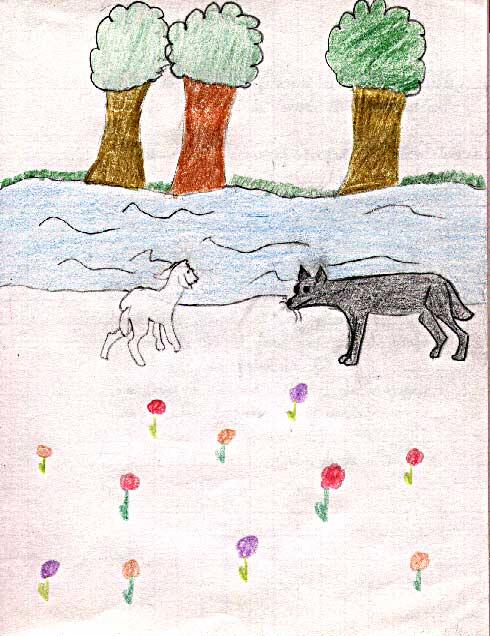 Historiettes - Dessin loup et agneau ...